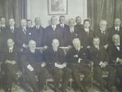 Photo of the members of the commission of the League of Nations created by the Plenary Session of the Preliminary Peace Conference, Paris, France 1919