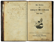 Goethe, Johann Wolfgang: Die Leiden des jungen Werthers. Erstausgabe 1774