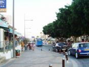 English: paradise Ayia Napa street in the early afternoon july Republic of Cyprus
