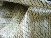 English: Laminate sail with Kevlar and Carbon fibres Deutsch: Laminatsegel mit Lastfäden aus Kevlar und Kohlefaser