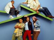 The cast of That's So Raven (seasons 1-3), (From left to right, above): Kyle Massey (Cory Baxter), T'Keyah Crystal Keymáh (Tanya Baxter), Rondell Sheridan (Victor Baxter), (From left to right, below): Orlando Brown (Eddie Thomas), Raven-Symoné (Raven Baxt
