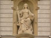 J. L. Urban, statue of Lady Justice at court building in Olomouc, Czech Republic