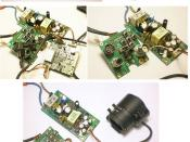 English: Looking at the inside of a CCTV camera.