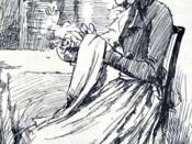 English: Elinor from Elinor and Edward at Barton, in Austen, Jane. Sense and Sensibility. London: George Allen, 1899. Français : Portrait d'Elinor, extrait de la gravure de Chris Hammond représentant la demande en mariage d'Edward