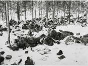 One of 300 images declassified by the Finnish government in 2006 showing the Winter War and Continuation War against the Soviet Union from 1939-45.
