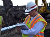 USACE quality assurance representative monitors construction