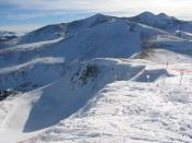English: View of Lake Chutes at the Breckenridge Ski Resort from the top of Peak 8.