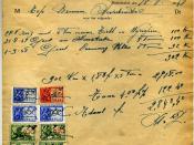 Invoice from Blommaert Gebroeders to Top Bronnen in Nederbrakel