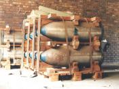 Spare bomb casings from South Africa's nuclear weapon programme