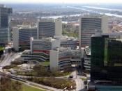 IAEA headquarters in Vienna, Austria. Photographed by Sarajevo-x.com, 25 March 2007. (IAEA = International Atomic Energy Agency.)