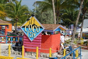 English: Sign at the entrance to Coco Cay, an island leased by Royal Caribbean International in the Bahamas.