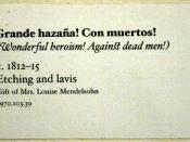 Francisco Goya - Wonderful Heroism! Against Dead Men! - Disasters of War - Berkeley Art Museum - label
