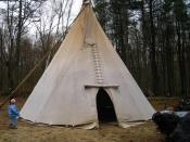 English: Tipi for peyote ceremony