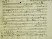 Autograph Mozart, Requiem (KV 626); Dies Irae