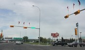 Typical light mounting in Calgary, Alberta, Canada.