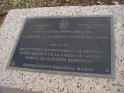 English: Sister city plaque between Austin, TX and Saltillo, Coahuila - In Austin, TX