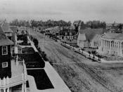 Downtown Oxnard in 1908, Oxnard Public Library on the right