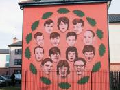 Mural of victim of Bloody Sunday