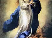 Mary, mother of Jesus, as the Immaculate Conception. Bartolomé Esteban Murillo. Museo del Prado.