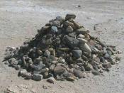 English: Pile of rocks started by Nelson Mandela and added to by former prisoners of Robben Island Prison, South Africa