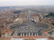 Lietuvių: Autoriaus nuotrauka, 2006.03.19. Vatikanas. Šv.Petro (San Piedro) aikštė iš Šv.Petro bazilikos kupolo. Nuotrauka gali būti platinama pagal GFDL licenciją.