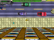 Screenshot of Grand Theft Auto, showing the top down view in Liberty City
