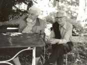 English: Nikolaas Tinbergen (right), Konrad Lorenz (left)