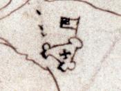 The Zuniga map, depicting the fort ca. 1608