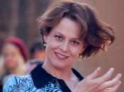 English: Sigourney Weaver at a ceremony for James Cameron to receive a star on the Hollywood Walk of Fame.