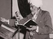 English: Ishar Singh 'Ishar' Bhaiya reciting a poem