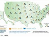 English: Current landfill gas projects in the United States and landfills that could utilize a landfill gas project
