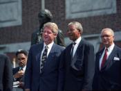 President Bill Clinton with Nelson Mandela, July 4 1993.