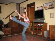 Cayla's high kick