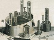 English: Pneumatic trough, and other equipment, used by Joseph Priestley