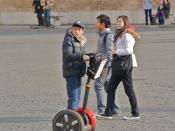 Segway scooter in Rome's Piazza del Popolo.