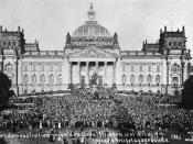 English: Mass demonstration in front of the Reichstag against the Treaty of Versailles (