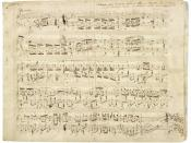English: Autograph partiture by the Polish composer Frédéric Chopin of his Polonaise Op. 53 in A flat major for piano, 1842. Français : Partition autographe du compositeur polonais Frédéric Chopin, pour sa Polonaise pour piano en si bémol majeur, Opus 53,