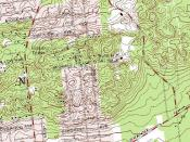 English: United States Geological Survey map excerpt showing the Bald Hill Ski Bowl area in Farmingville, New York