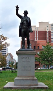Statue of Edmund Burke in Washington DC. See inscription|100px