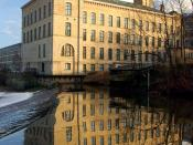 Saltaire New Mill, part of a UNESCO World Heritage Site in West Yorkshire, England.