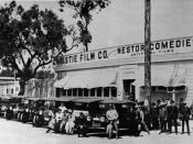 English: Nestor Studios, the first film studio in Hollywood, 1913.