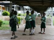English: Children at school in Nigeria