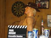 Wax figure of Paul Hogan