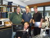 Stephen Hawking with PC Team