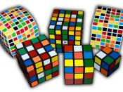 English: Rubik's Cube variants from 2×2×2 all the way to 7×7×7. Inspired by Rubik's cube variations.