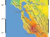 English: ShakeMap of the 1989 Loma Prieta earthquake