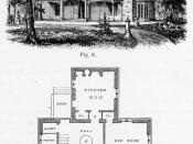 Design II, English or Rural Gothic style, Cottage Residences, 1842.