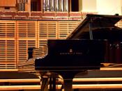 A Steinway & Sons Piano, in the Vebrugghen Hall of the Sydney Conservatorium of Music.