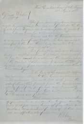 General Robert E. Lee's farewell order to the Army of Northern Virginia.