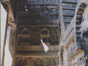Español: Vestibulo de la Chaitya, Karle, Maharashtra, India